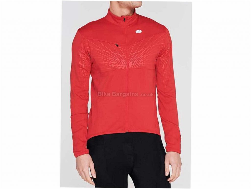 Sugoi Hotshot Pro Long Sleeve Jersey L, Black, Red