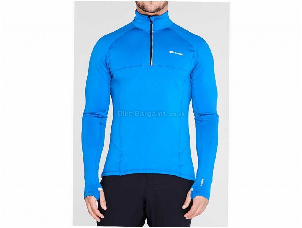 Sugoi Midzero Zip Long Sleeve Jersey XL, Black, Blue