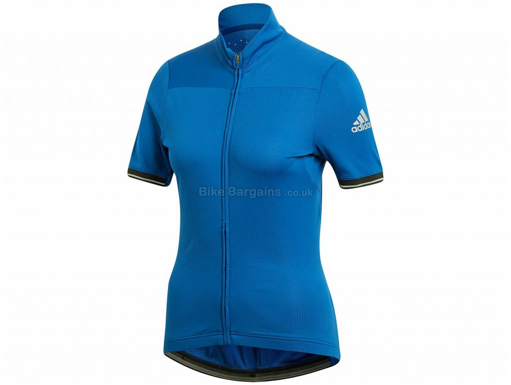 adidas Climachill Ladies Short Sleeve Jersey M, Blue