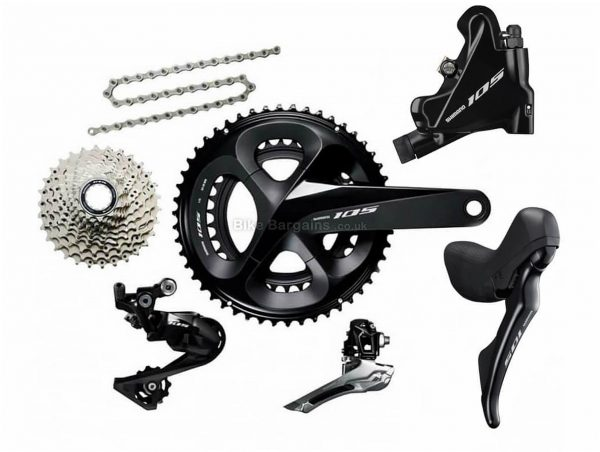 Shimano 105 R7020 11 Speed Disc Groupset 11 Speed, Double, Road