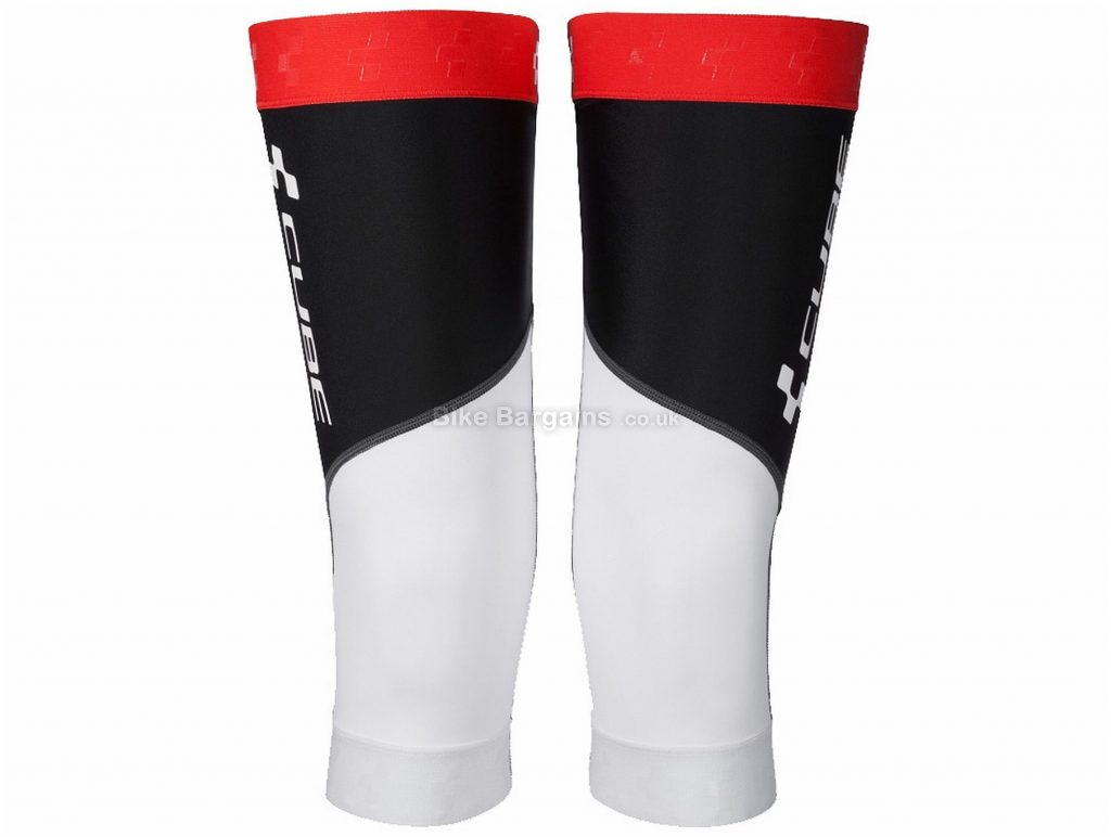 Cube Race Knee Warmers L, White, Black, Red