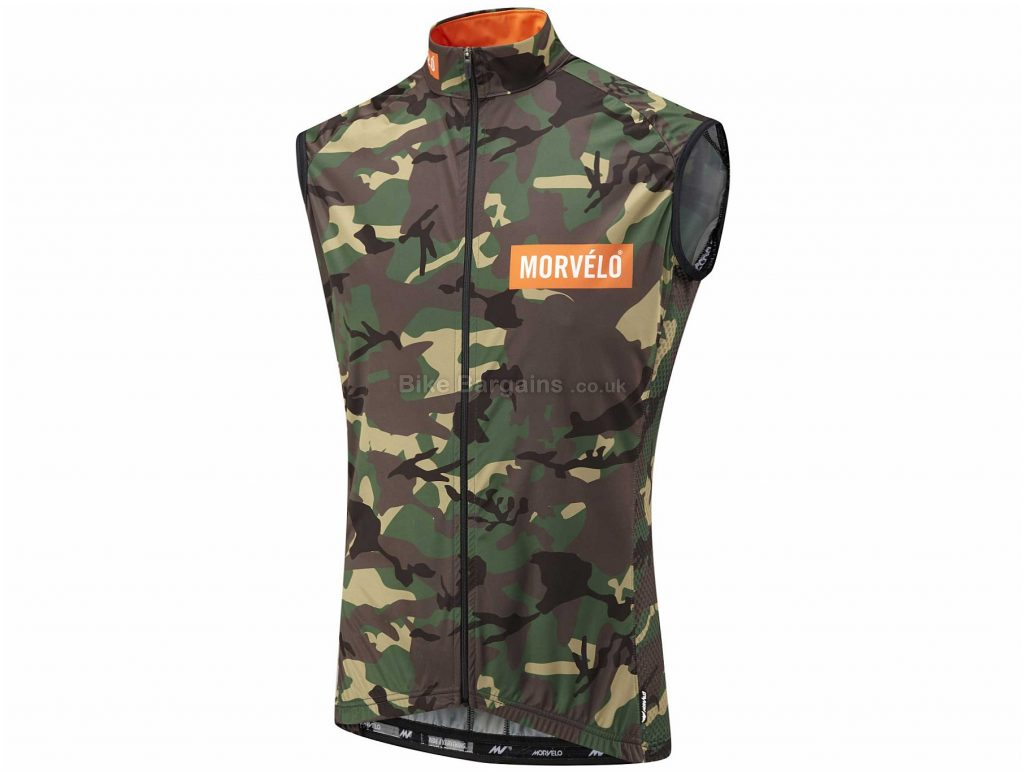 Morvelo Hurricane Camo Gilet XS,S, Green, Brown