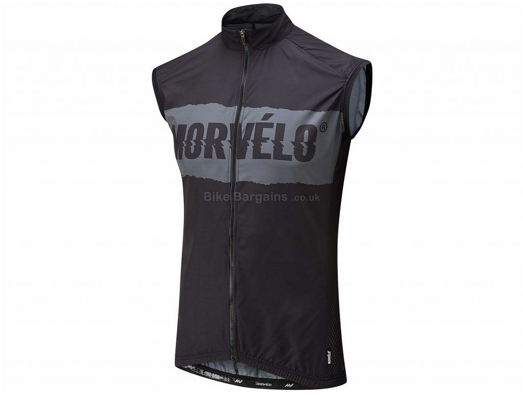 Morvelo Hurricane Pitch Gilet XS, Black, Grey
