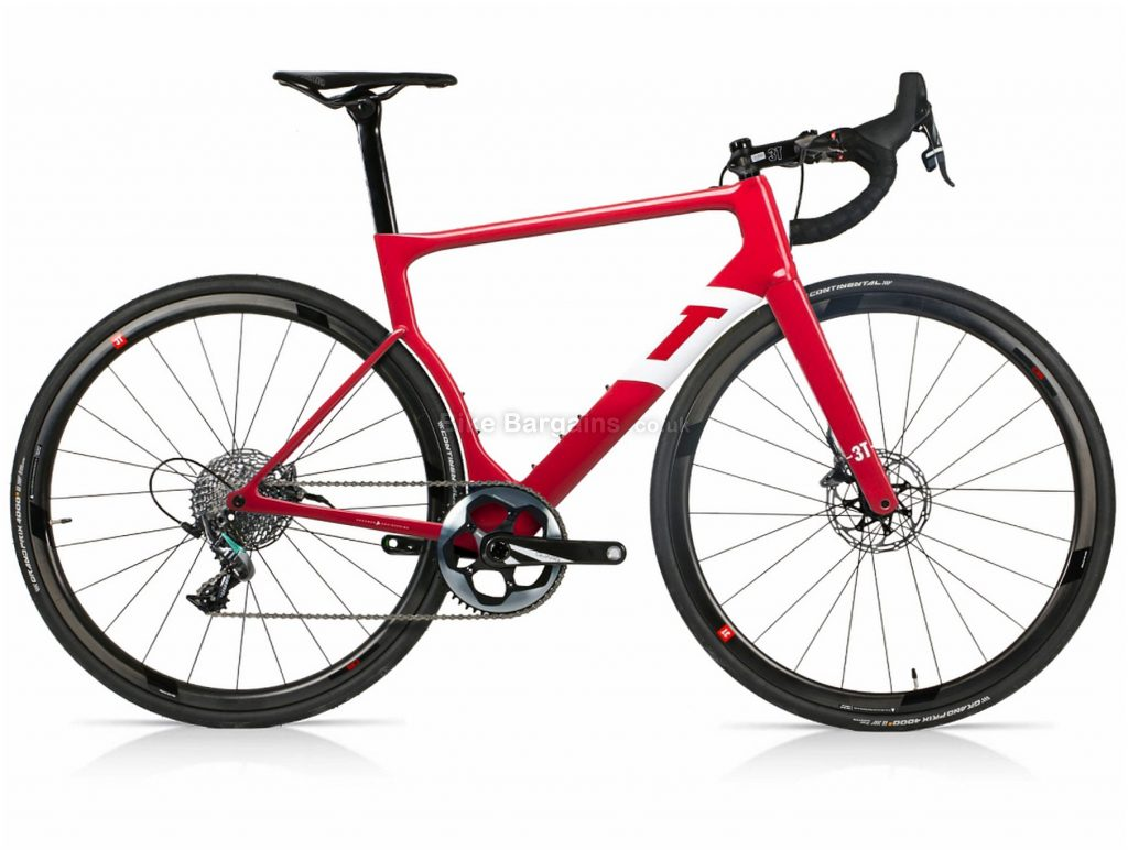 3T Strada Team Aero Disc Carbon Road Bike 2019 S,M,L,XL, Red