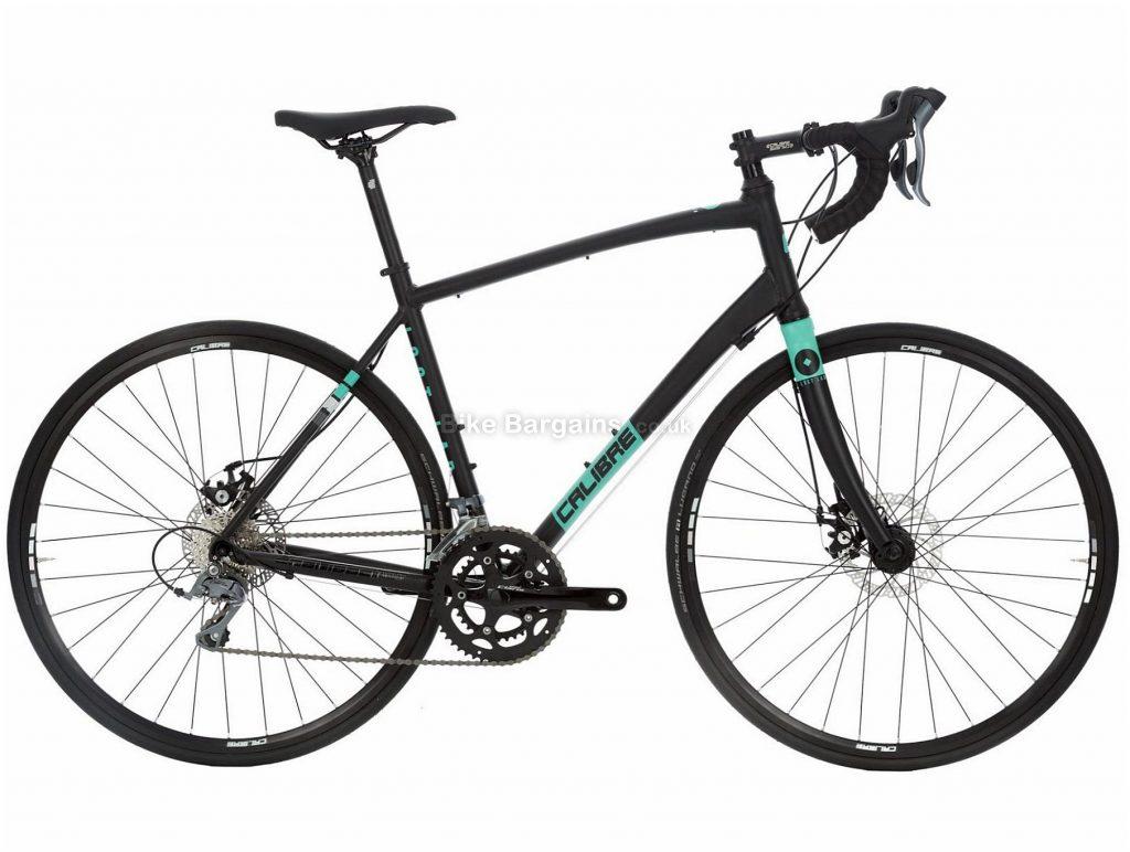 Calibre Lost Lad Disc Alloy Road Bike 2019 M, Black, Turquoise, Alloy, 8 Speed, Disc Brakes, 12.4kg, Men's