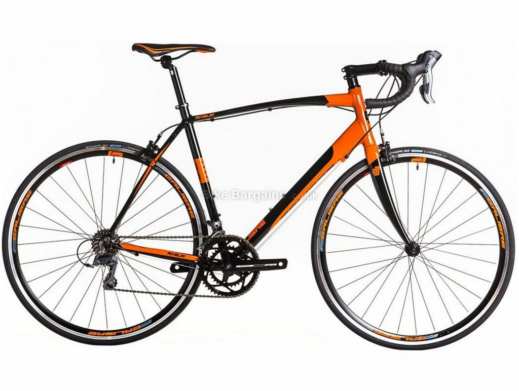 Calibre Rivelin Alloy Road Bike 2019 47cm, 48cm, 49cm, 50cm, 52cm, 54cm, 56cm, 58cm, Orange, Black, Alloy, 8 Speed, Calipers, 10.9kg, Men's