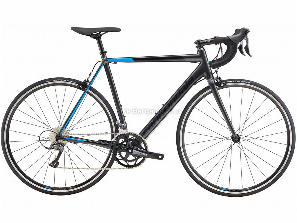 Cannondale CAAD Optimo Claris Alloy Road Bike 2019 56cm, Black, Blue, Alloy, 8 Speed, Calipers, Men's