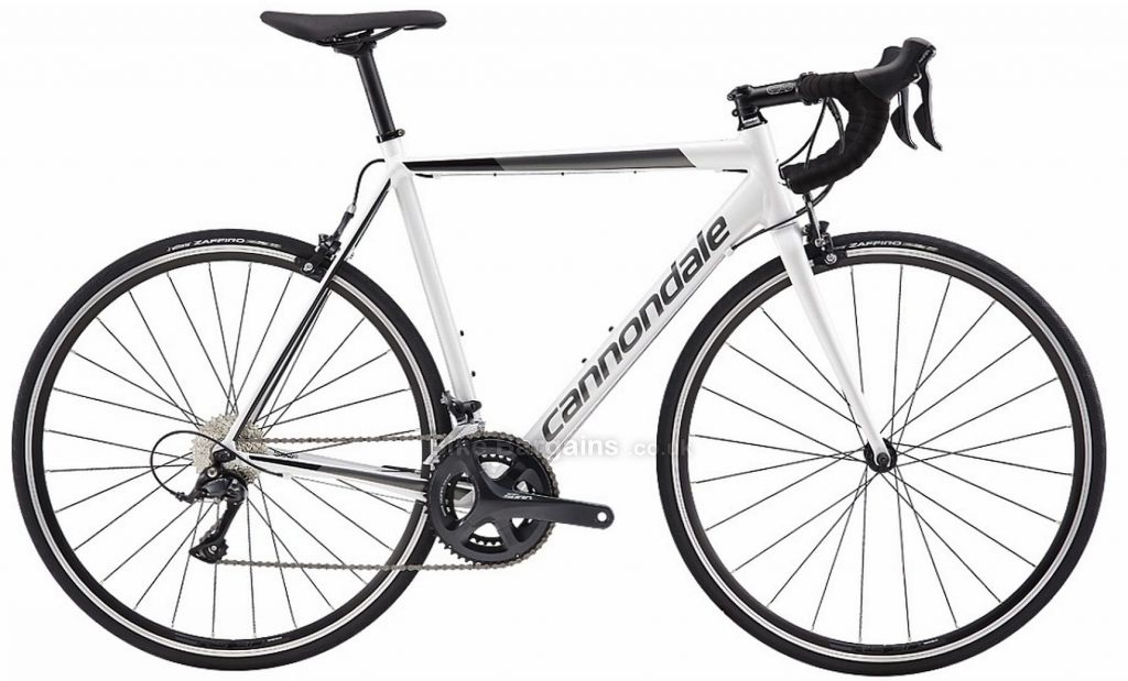 Cannondale CAAD Optimo Sora Alloy Road Bike 2019 58cm, White, Alloy, 9 Speed, Calipers, Men's