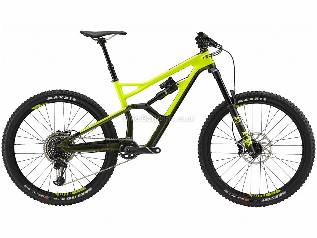 """Cannondale Jekyll 2 27.5"""" Carbon Full Suspension Mountain Bike 2019 S, Yellow, Black, 27.5"""", Carbon, 12 Speed, Full Suspension"""