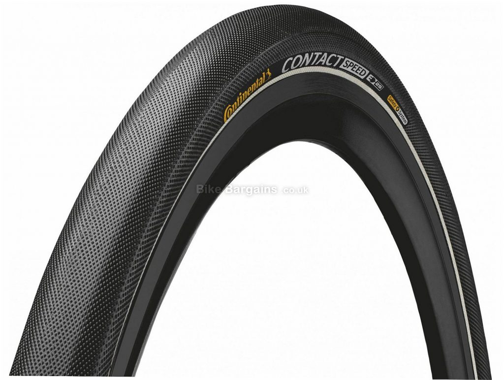 Continental Contact Speed Folding Road Tyre 700c, 28c - 35c, 42c are extra, Black, Folding, Road, 610g
