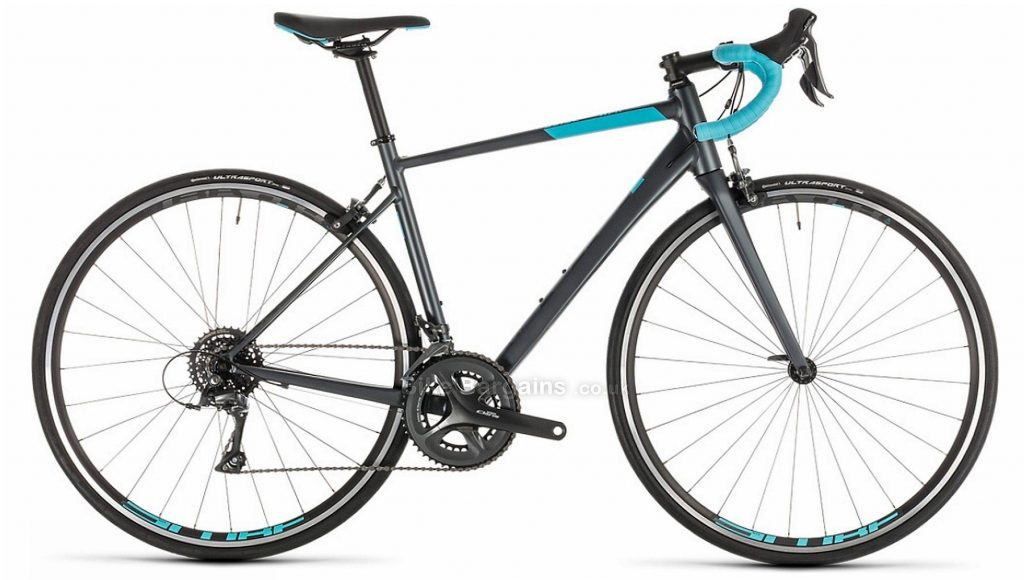 Cube Axial Ladies Alloy Road Bike 2019 47cm, Grey, Blue, Alloy, 8 Speed, Calipers, Ladies