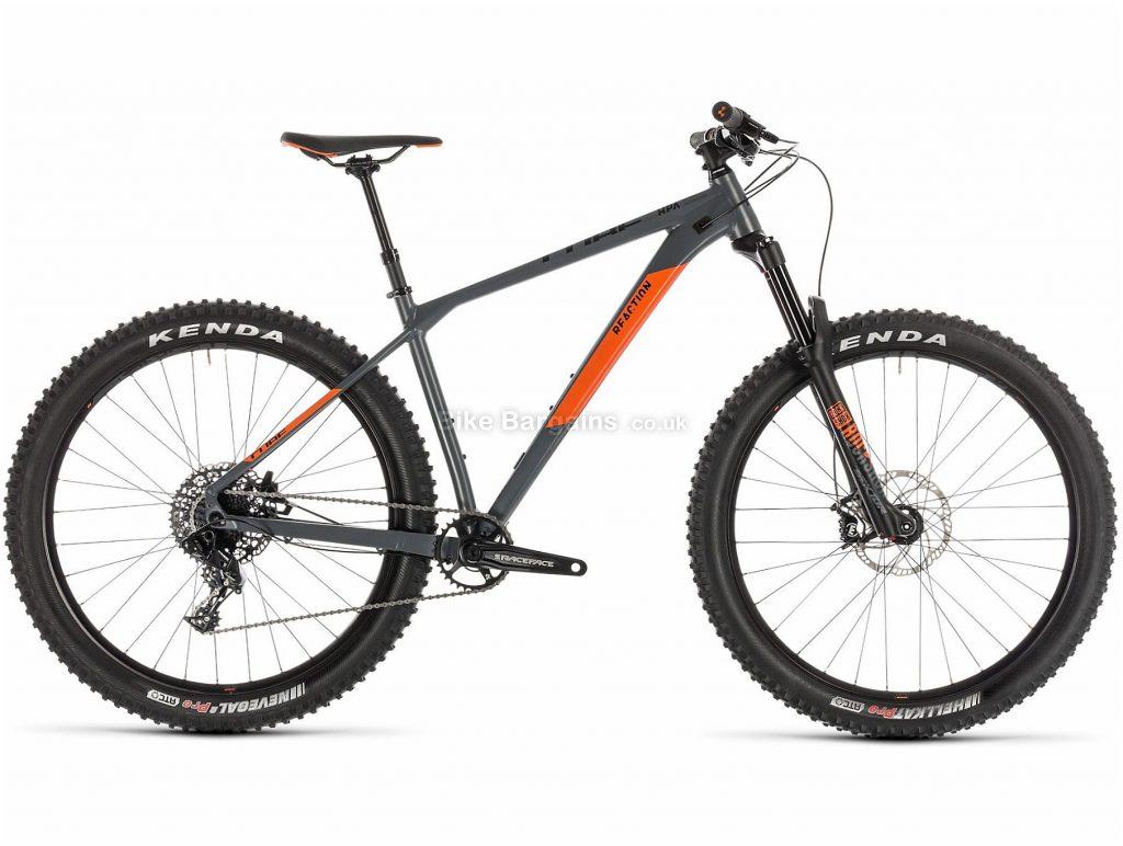 """Cube Reaction TM Pro 27.5"""" Alloy Hardtail Mountain Bike 2019 18"""", Grey, Orange, 27.5"""", Alloy, 11 Speed, Hardtail, 13.6kg"""