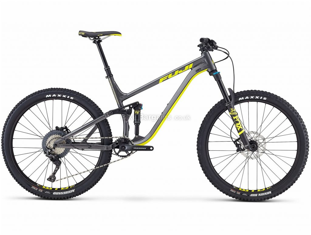 "Fuji Auric 1.3 27.5"" Alloy Full Suspension Mountain Bike 2019 17"",21"", Grey, Yellow, 27.5"", Alloy, 11 Speed, Full Suspension, 13.18kg"