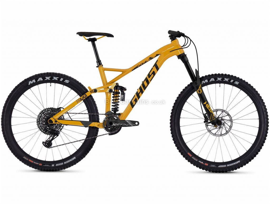 """Ghost FR AMR 8.7 27.5"""" Alloy Full Suspension Mountain Bike 2019 S, Yellow, 27.5"""", Alloy, 11 Speed, Full Suspension"""