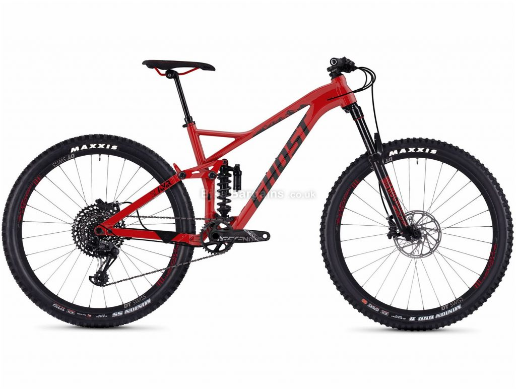 "Ghost SL AMR 6.7 27.5"" Alloy Full Suspension Mountain Bike 2019 S, Red, 27.5"", Alloy, 12 Speed, Full Suspension"