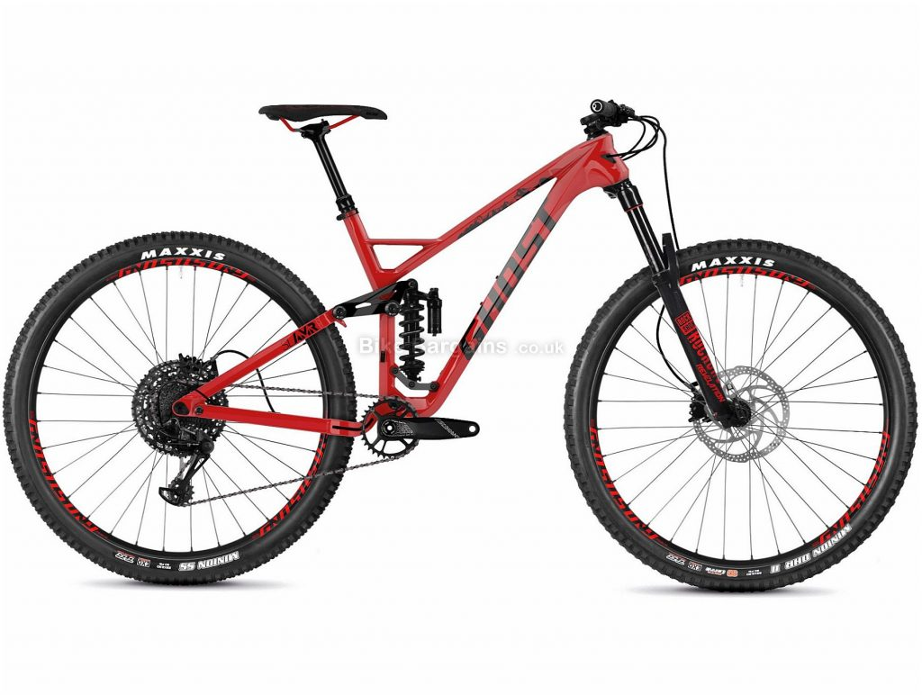 "Ghost SL AMR 6.9 29"" Carbon Full Suspension Mountain Bike 2019 S, Red, Black, 29"", Carbon, 12 Speed, Full Suspension"