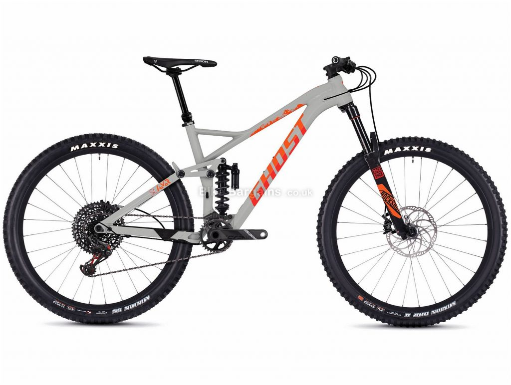 """Ghost SL AMR 8.7 27.5"""" Alloy Full Suspension Mountain Bike 2019 L, Grey, Red, 27.5"""", Alloy, 12 Speed, Full Suspension"""