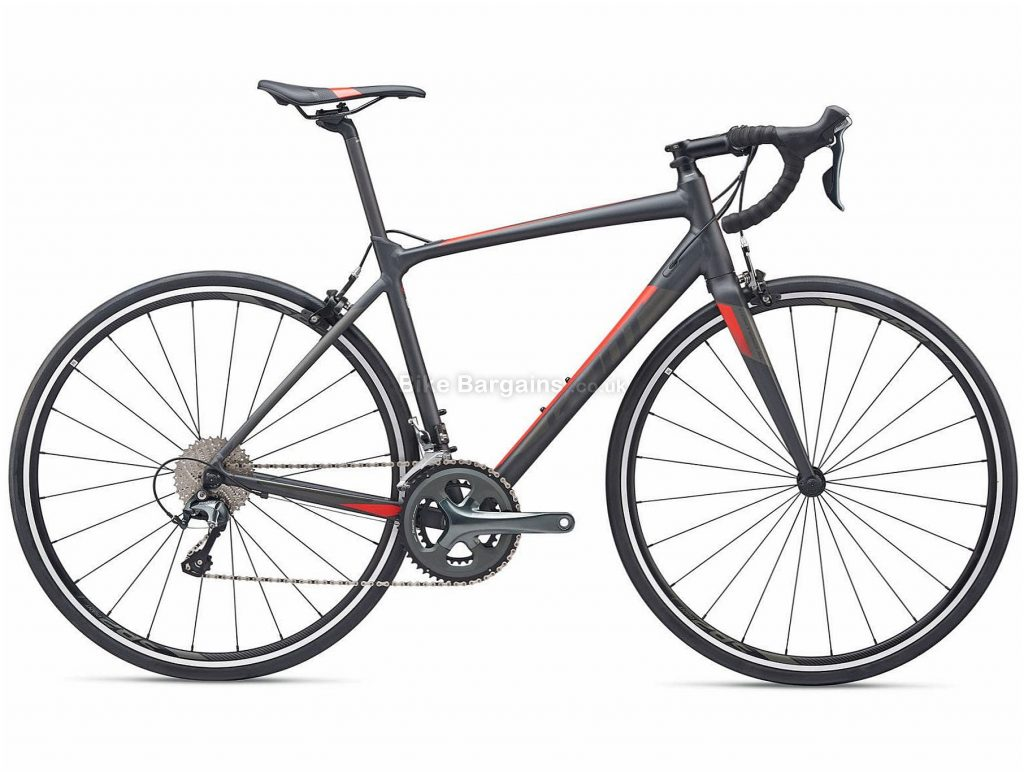 Giant Contend 2 SL Alloy Road Bike 2019 M, Grey, Alloy, 10 Speed, Calipers, Men's