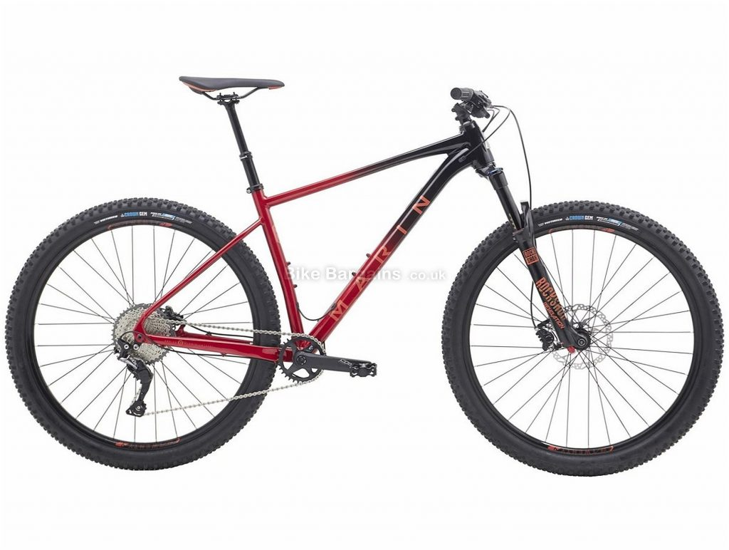 "Marin Nail Trail 7 29"" Alloy Hardtail Mountain Bike 2019 19"", Black, Red, 29"", Alloy, 11 Speed, Hardtail"