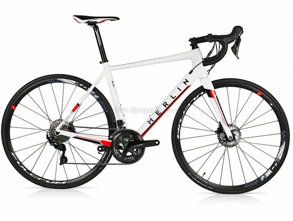 Merlin Cordite 105 R7000 Disc Carbon Road Bike 2019 M,L,XL,XXL, White
