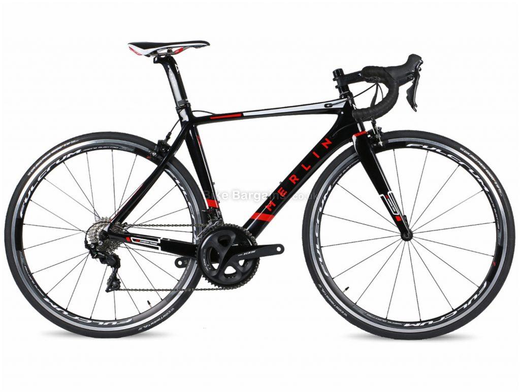 Merlin Nitro Aero 105 R7000 Carbon Road Bike 2019 54cm, 56cm, 58cm, Black