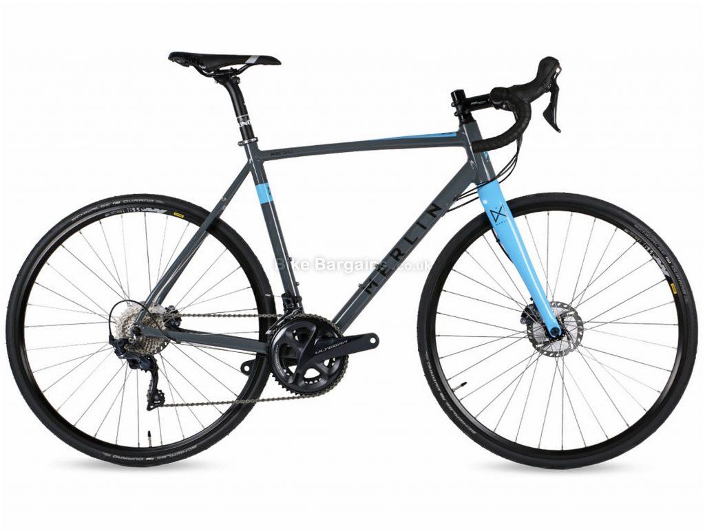Merlin ROC Ultegra Disc Alloy Road Bike 2019 50cm, Grey, Blue