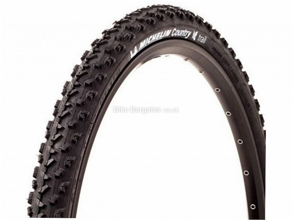 """Michelin Country Trail Wire 26"""" MTB Tyre 26"""", 2.0"""", Black, Wire, MTB"""