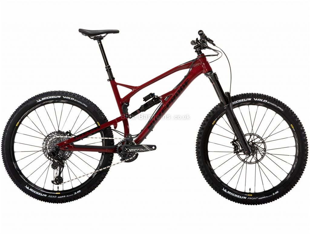 "Nukeproof Mega 275 Pro GX Eagle 27.5"" Alloy Full Suspension Mountain Bike 2019 XL, Red, Black, 27.5"", Alloy, 12 Speed, Full Suspension"