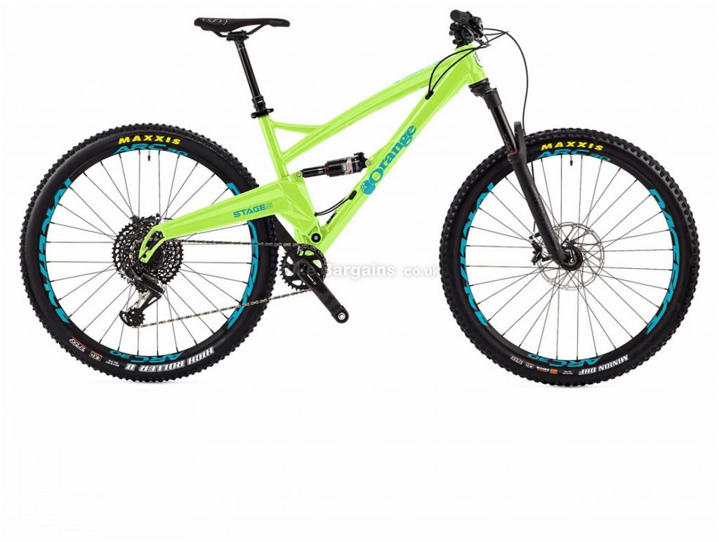 """Orange Stage 5 RS 29"""" Alloy Full Suspension Mountain Bike 2018 L, Yellow, 29"""", Alloy, 12 Speed, Full Suspension"""