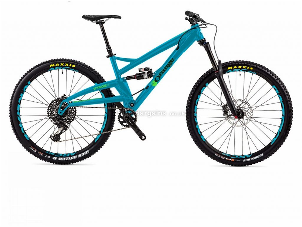 "Orange Stage 6 RS 29"" Alloy Full Suspension Mountain Bike 2018 L, Blue, 29"", Alloy, 12 Speed, Full Suspension"