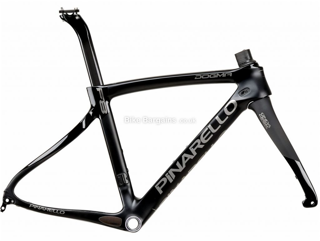 Pinarello Dogma F8 Disc Carbon Road Frame 2019 with F10 Fork 46cm, Black, Carbon, Disc, 700c