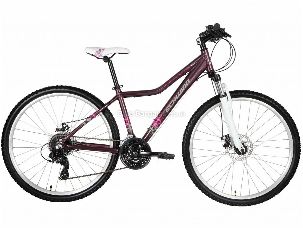 """Schwinn Rocket 5 Ladies 27.5"""" Alloy Hardtail Mountain Bike 2020 S,M, Purple, 27.5"""", Alloy, 21 Speed, Hardtail"""