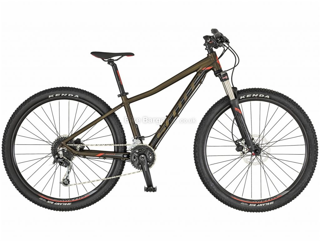 "Scott Contessa Scale 30 Ladies Alloy Hardtail Mountain Bike 2019 XS, Brown, 27.5"", 29"", Alloy, 18 Speed, Hardtail"