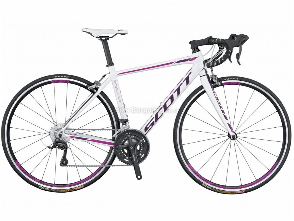 Scott Contessa Speedster 35 Ladies Alloy Road Bike 2016 XXS, White, Pink, Purple, Alloy, 9 Speed, Calipers, 9.8kg, Ladies