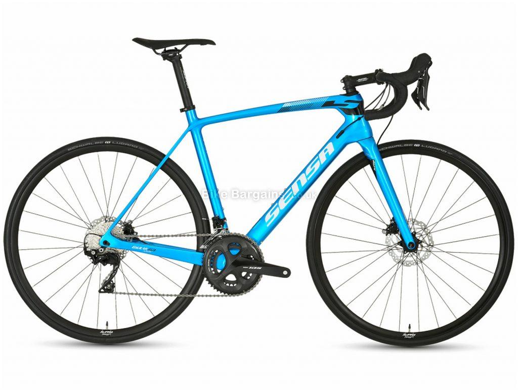 Sensa Giulia G3 105 Disc Carbon Road Bike 2019 55cm, Blue