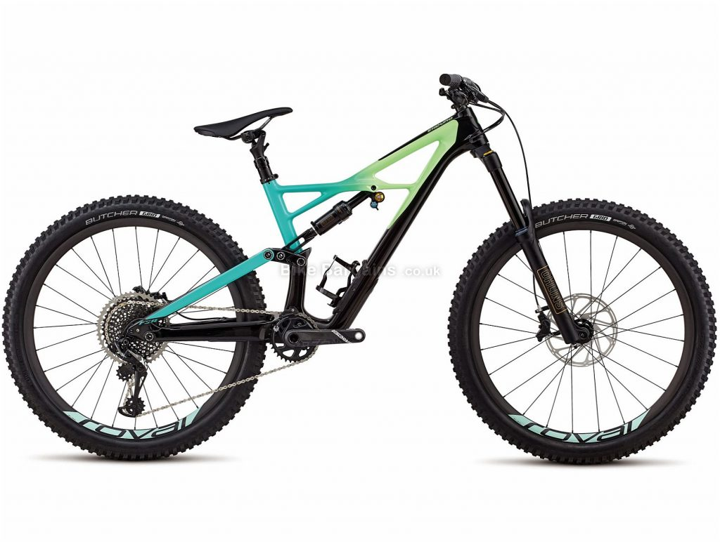 "Specialized Enduro Pro 27.5"" Carbon Full Suspension Mountain Bike 2018 XL, Black, Turquoise, 27.5"", Carbon, 12 Speed, Full Suspension"