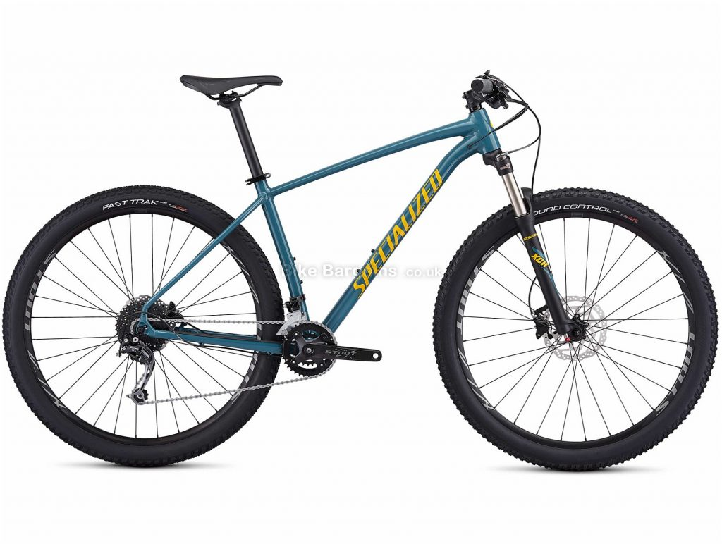 "Specialized Rockhopper Expert 29"" Alloy Hardtail Mountain Bike 2019 XS, Black, Blue, 29"", Alloy, 18 Speed, Hardtail"