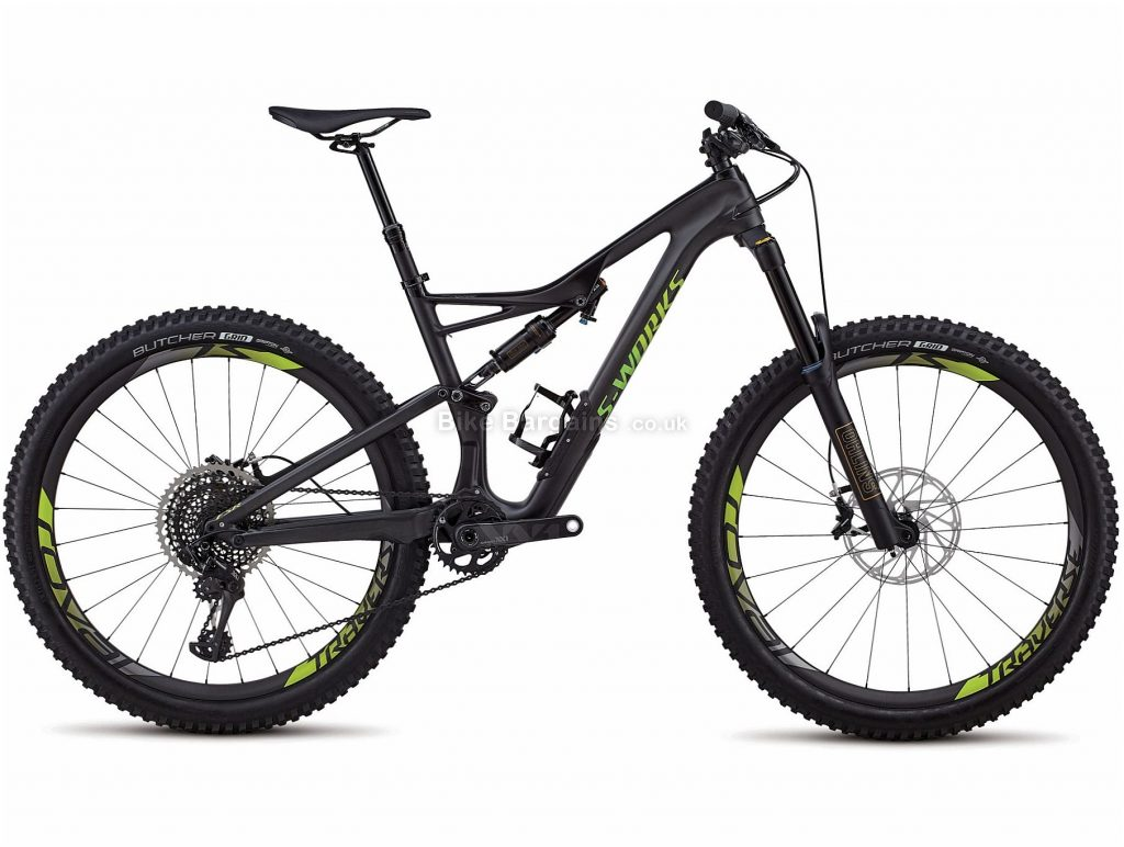 "Specialized S-works Stumpjumper 27.5"" Carbon Full Suspension Mountain Bike 2018 L, Black, 27.5"", Carbon, 12 Speed, Full Suspension"