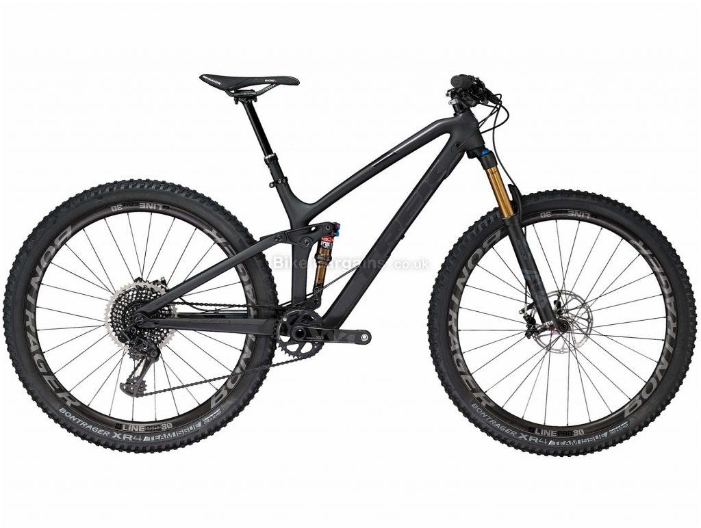 """Trek Fuel EX 9.9 29"""" Carbon Full Suspension Mountain Bike 2018 15"""", Black, 29"""", Carbon, 12 Speed, Full Suspension"""