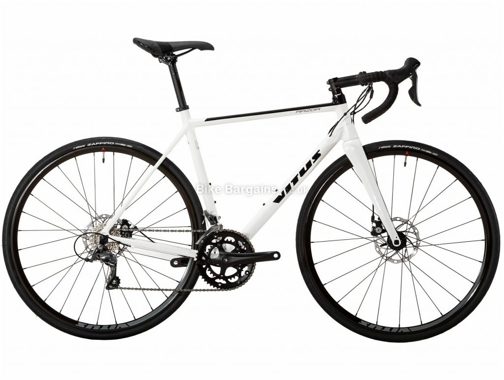Vitus Razor Disc Claris Alloy Road Bike 2019 S, White, Black, Alloy, 8 Speed, Disc Brakes, 10.71kg, Men's