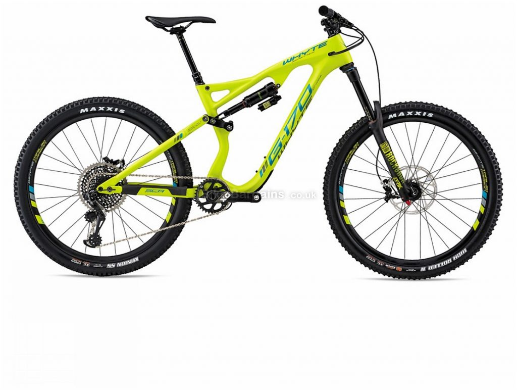 "Whyte G-170C Works 27.5"" Carbon Full Suspension Mountain Bike 2018 M, Yellow, 27.5"", Carbon, 12 Speed, Full Suspension"