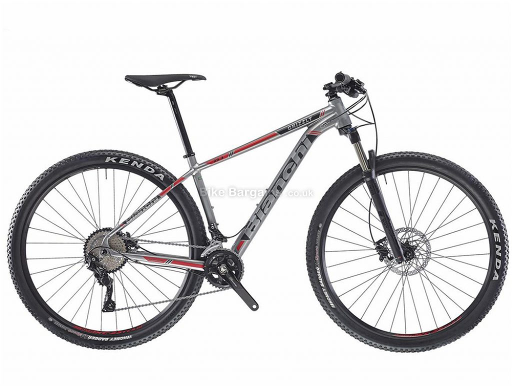 "Bianchi Grizzly 9.3 Deore 29"" Alloy Hardtail Mountain Bike 2019 L, Grey, Black, 29"", Alloy, 10 Speed, Hardtail"