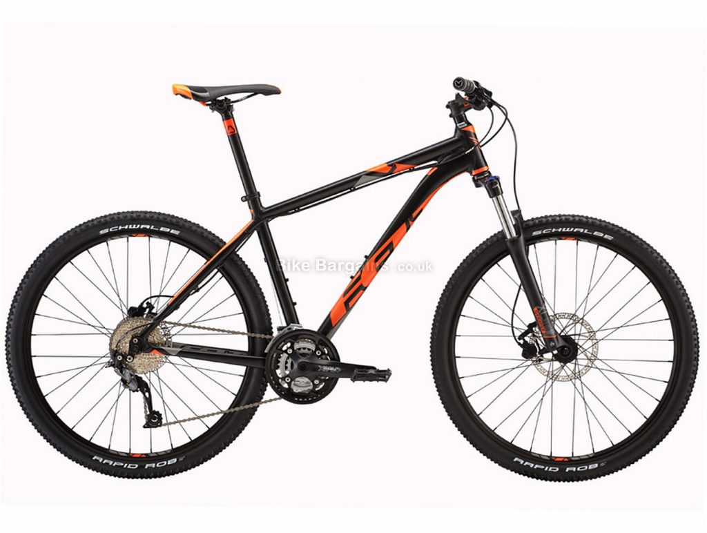 "Felt 7 Seventy 27.5"" Alloy Hardtail Mountain Bike 2017 14"",22"", Black, Orange, 27.5"", Alloy, 9 Speed, Hardtail"