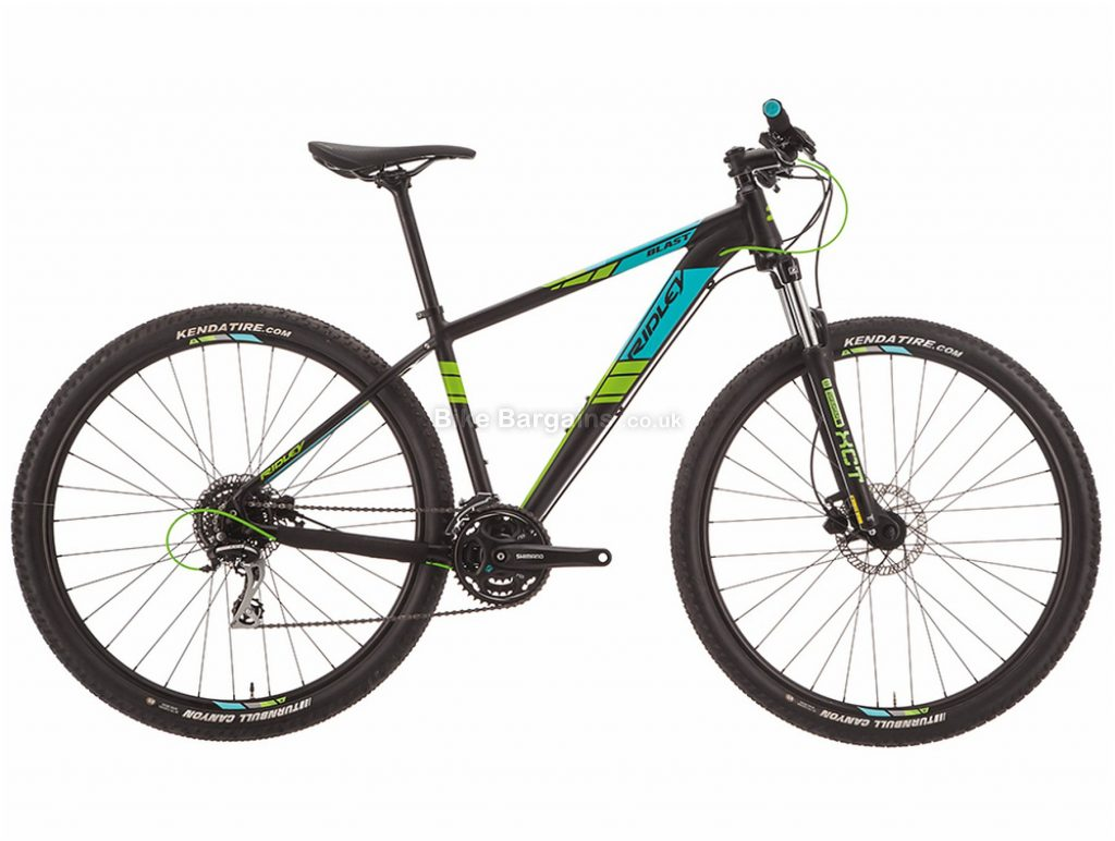 "Ridley Blast Acera 29"" Alloy Hardtail Mountain Bike 2019 S, Black, Turquoise, 29"", Alloy, 9 Speed, Hardtail"