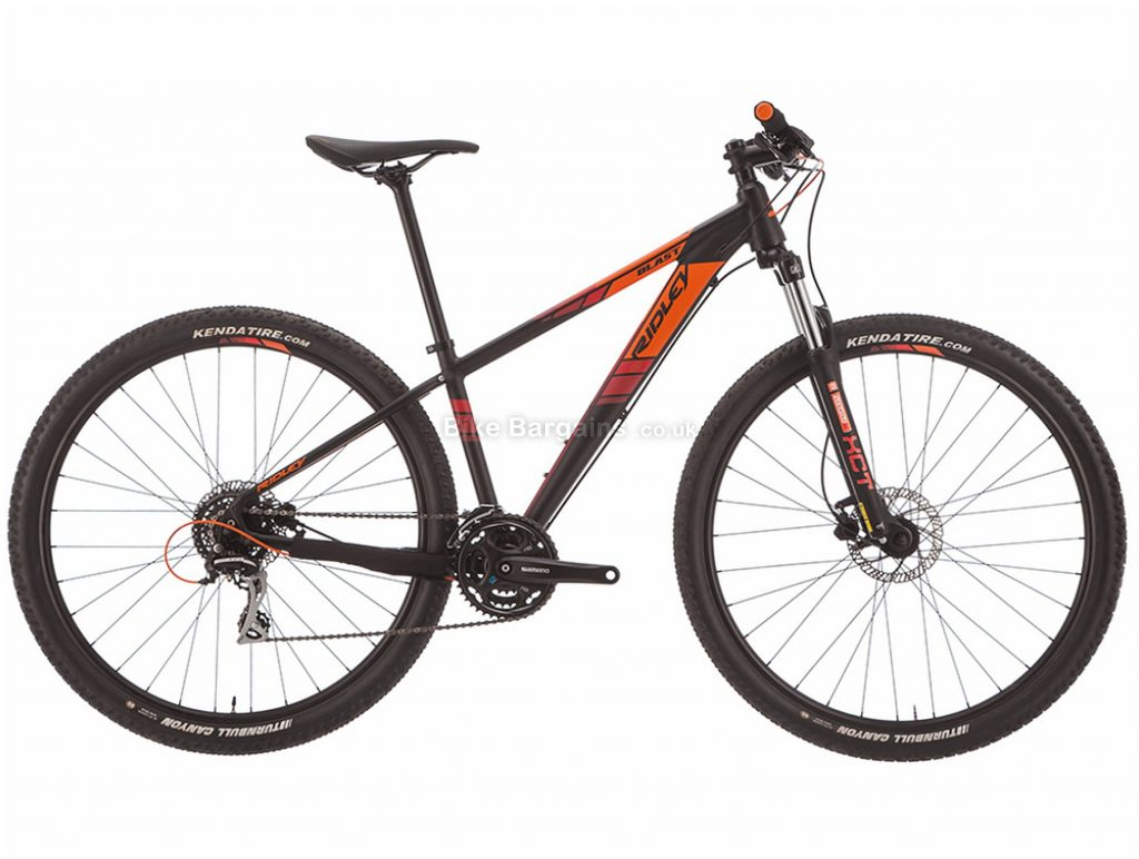 "Ridley Blast Deore 29"" Alloy Hardtail Mountain Bike 2019 L, Black, Orange, 29"", Alloy, 9 Speed, Hardtail"