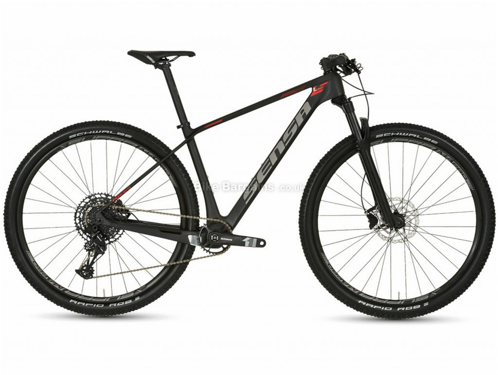 "Sensa Fiori Evo SLE 29"" Carbon Hardtail Mountain Bike 2019 17"", Black, 29"", Carbon, 12 Speed, Hardtail"