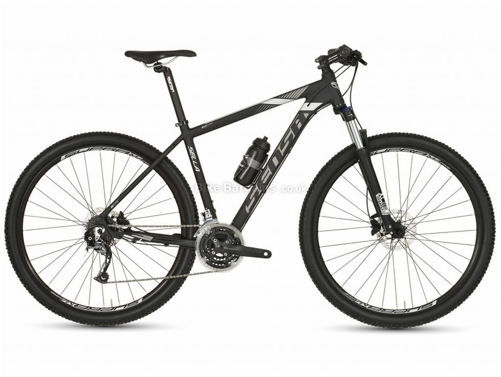 "Sensa Sella 24 27.5"" Alloy Hardtail Mountain Bike 2019 18"", Black, 27.5"", Alloy, 8 Speed, Hardtail"