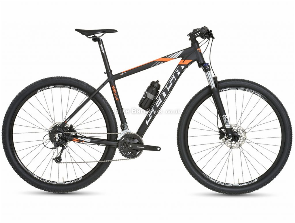"""Sensa Sella 27 29"""" Alloy Hardtail Mountain Bike 2019 19"""", Black, 29"""", Alloy, 9 Speed, Hardtail"""