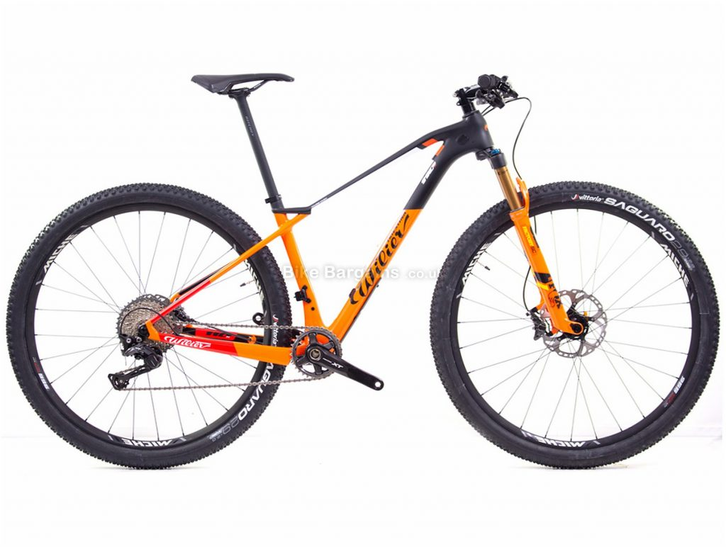 "Wilier 110X XT 29"" Carbon Hardtail Mountain Bike 2019 S, Black, Orange, Green, 29"", Carbon, 11 Speed, Hardtail"