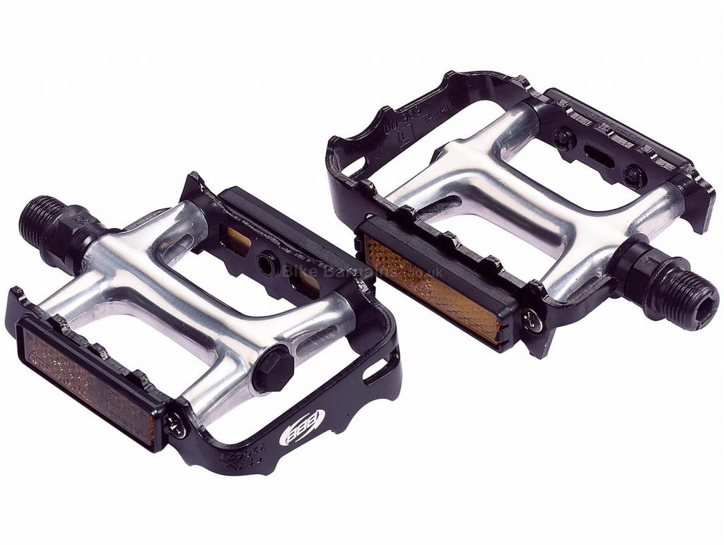 """BBB BPD-17 ClassicRide MTB Pedals Flat, MTB, 247g, Alloy, Black, Silver, 9/16"""""""